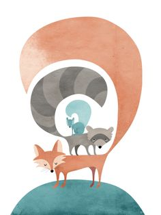 Featured Student Project: Eva Juliet Fox Print Class: Learn the Ins and Outs of Illustrator Created by: Mandi Miles
