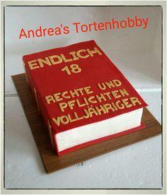Book cake 18. Birthday, Buchtorte 18. Geburtstag