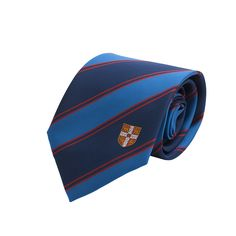 Official University Of Cambridge Double Stripe Red Coat Of Arms Tie