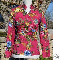Women Vintage cotton Wrapped shirt