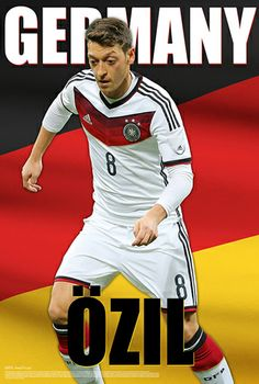 Mesut Ozil Germany #GER Glory #WorldCup 2014 Soccer Superstar Poster - Starz