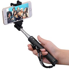 cool Mpow iSnap X One-piece U-Shape Self-portrait Extendable Selfie Stick with built-in Bluetooth Remote Shutter