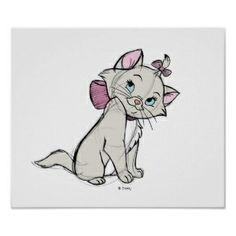 disney sketches   The Aristocats' Marie Sketch Disney Print Print