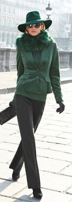 Green Jacket and Hat