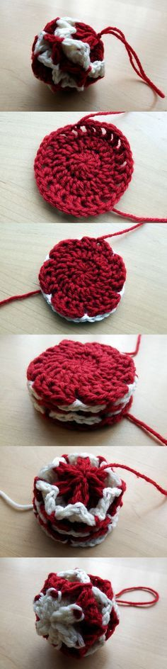 Simple Origami Christmas Baubles – Free crochet ornament pattern - and there's a video too!