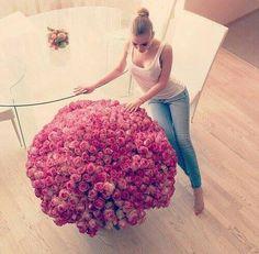 blonde girl rose flowers
