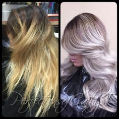 """Cathy Tran (@prostylistcathyt) of Corona, California says this correction took 14 hours. """"This client has been through many sessions with other colorists, but was having trouble reaching her target shade,"""" says Tran. """"Even with lots of hidden breakage underneath, with the help of Olaplex, I was able to save her hair and also keep the integrity of her hair better then when we first started off!"""""""