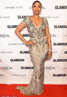 A stunning sight: Jennifer Hudson looked incredible at the Glamour Woman Of The Year Awards in New York City on Monday