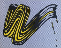 ROY LICHTENSTEIN - BRUSHSTROKE - KUNZT.GALLERY http://www.widewalls.ch/artwork/roy-lichtenstein/brushstroke/ #Print