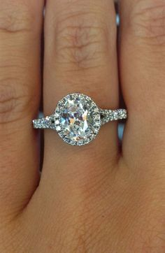 Stunning Oval Diamond Halo Engagement
