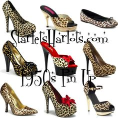 """Leopard Vintage Shoes"" by starlets-harlots on Polyvore"