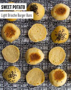 Sweet Potato Light Brioche Burger Buns