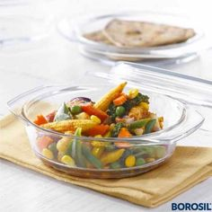 Borosil Glass Casserole - Oven And Microwave Safe Serving Bowl With Glass Lid, Cooking Utensils, Kitchen Utensils, Kitchen Appliances, Old Kitchen, Kitchen Items, Microwave Rice Cooker, Kitchenware, Tableware, Serving Bowls