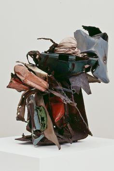 JOHN CHAMBERLAIN http://www.widewalls.ch/artist/john-chamberlain/  assemblage sculpture abstract