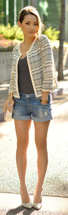 Striped Jacket Streetstyle by Hapa Time