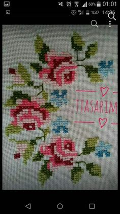 Cross Stitch Borders, Cross Stitch Rose, Cross Stitch Flowers, Floral Embroidery Patterns, Beading Patterns, Embroidery Designs, Needlework, Diy And Crafts, Mini