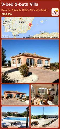 3-bed 2-bath Villa in Dolores, Alicante (City), Alicante, Spain ►€185,000 #PropertyForSaleInSpain