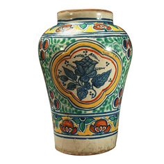 19th Century Mexican Talavera Poblana Jarron - Ex Andy Warhol | From a unique collection of antique and modern serving pieces at http://www.1stdibs.com/furniture/dining-entertaining/serving-pieces/