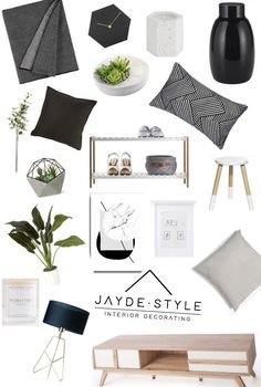 Instant Style - Get the details for this moodboard to create your own monochrome designer look lounge room for under $370! Includes a complete list...