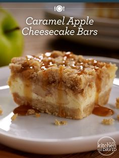What is your favorite flavor of cheesecake? My Caramel Apple Bars recipe is perfect for a Fall party. What is your favorite flavor of cheesecake? My Caramel Apple Bars recipe is perfect for a Fall party. Caramel Apple Cheesecake Bars, Cheesecake Recipes, Dessert Recipes, Cheesecake Squares, Desserts Caramel, Caramel Apple Bars, Plain Cheesecake, Just Desserts, Delicious Desserts