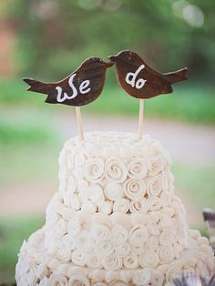 15 Awesome DIY Wedding Cake Topper Ideas | TheKnot.com