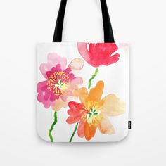 Buy Dancing Poppies Tote Bag by susanbrand. Worldwide shipping available at Society6.com. Just one of millions of high quality products available.