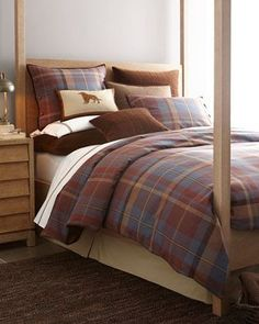 Shop Baxter Bed Linens at Horchow, where you'll find new lower shipping on hundreds of home furnishings and gifts. Baxter Beds, Log Home Bedroom, Home Bedroom, Linen Bedding, Bedroom Design, Christmas Decorations Bedroom, Bed, Bedroom, Cabin Bedroom