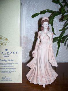 """Coalport Figurine Figure Statue Sculpture """"Evening Debut"""", Age of Elegance"""