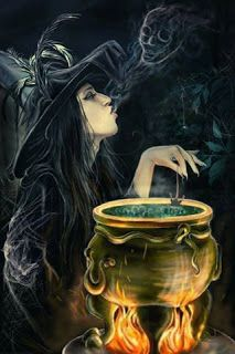 """Magick Wicca Witch Witchcraft: """" Hour,"""" by AmelieSteiger, at deviantART. Halloween Pictures, Scary Halloween, Vintage Halloween, Happy Halloween, Halloween Backdrop, Scary Witch, Samhain Halloween, Halloween Countdown, Halloween 2019"""