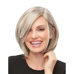 Kristi by Jon Renau Wigs - Lace Front, Monofilament, Hand Tied Wig Short Bob Hairstyles, Hairstyles With Bangs, Braided Hairstyles, Fun Hairstyles, Hairdos, Lace Front Wigs, Lace Wigs, Daniel Golz, Blonde Color