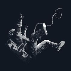 Death By Black Hole / Freefall Astronaut Illustration on Behance