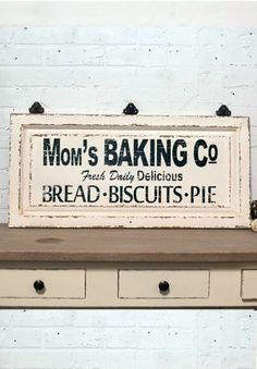 Baking Sign, Vintage Bakery Sign, Antique Signage