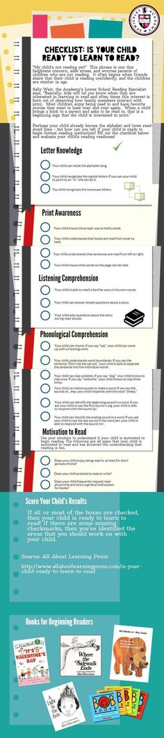 Reading Readiness - Is Your Child Ready To Read Checklist #edchat #edtech #isedchat