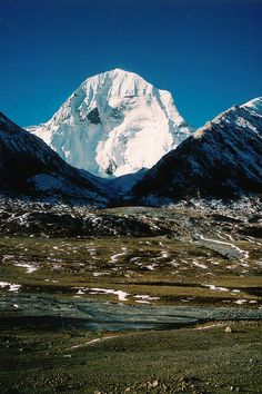 Mount Kailash is a sacred mountain in western Tibet. It is located near the source of some of the longest and mightiest rivers in Asia. It is considered a sacred place in four religions: Bön, Buddhism, Hinduism and Jainism.