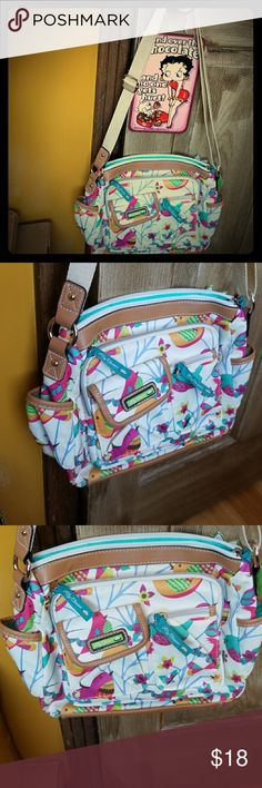 """NWT Lily Bloom """"Karma Bloom"""" birds shoulder bag Super cute, springy, stylish and convenient bag by Lily Bloom - brand new with tags  - beautiful colors bring a ray of sunshine to your day with birds and flowers ❤ approximate measurements are 9"""" x 11"""" with adjustable shoulder strap Lily Bloom Bags Shoulder Bags"""