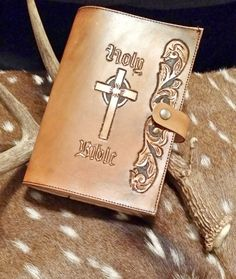 This handmade genuine leather Bible cover is a beautiful way to cover your Bible.    ****Please note that every genuine leather item is hand made to