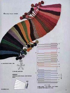 Pomysł na szalik szydełkiem lub na drutach - wzor z tutorialem