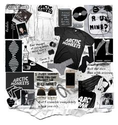 """""""Arctic Monkeys"""" by depression-of-a-lost-girl ❤ liked on Polyvore featuring Cosabella, Polaroid, NOVICA and Converse"""