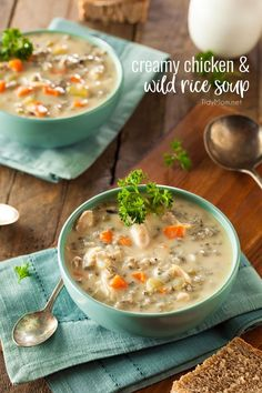 Panera Copycat Creamy Chicken and Wild Rice Soup continues to be a family favorite. It's delicious and hearty, perfect for cold winter nights. Print the full recipe at TidyMom.net