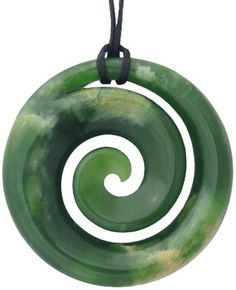 For anyone who loves the outdoors, this perfect Jade Leaf Pendant is a nice piece of nature. New Beginning Tattoo, Spiral Tattoos, Polynesian Art, Maori Art, Shadow Art, Carving Designs, Bone Carving, Leaf Pendant, Green Stone