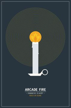 Live Show Poster, Arcade Fire - Denis Carrier | Illustration & Art Direction