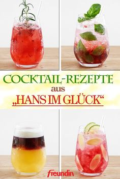 "Rezepte Whether fruity, sweet, refreshingly bitter, non-alcoholic or with a dash, cocktail expert Rodoljub ""Bobek"" Jugovic knows which drinks are popular right now Refreshing Cocktails, Easy Cocktails, Summer Cocktails, Healthy Eating Tips, Healthy Nutrition, Whiskey And Ginger Ale, Gin Cocktail Recipes, Drink Recipes, Bobe"