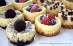 For BBQ in June !  Mini Cheesecakes - 1 Recipe, 4 Different Types!