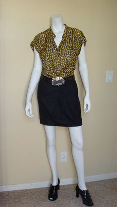 Daily Look:  CAbi Fall '12 Polka Dot Top with last fall's Andy's Skirt and Signature Belt.