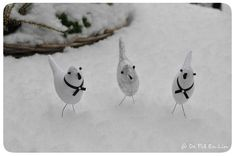 Couture: Mes Petits Oiseaux blanc comme neige!