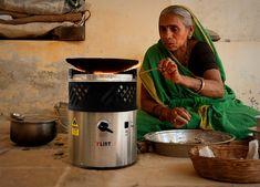 La cocina portátil que usa aceite usado como combustible.  Una cocina que quiere cambiar la práctica común de usar leña o combustibles fósiles como el petróleo, para cocinar.