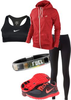 """NIKE Fuelband"" by diamondglturner on Polyvore #Fitness #Workout"