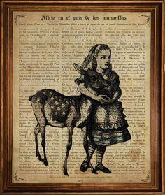 Alicia en el Pais de las maravillas, sobre la historia del libro.  http://www.nacnic.com/#!maravillas-laminas/coqh