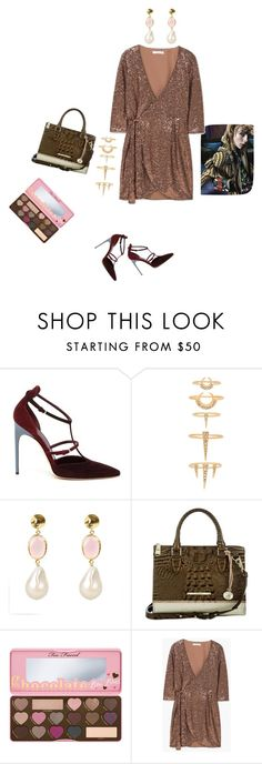 """Untitled #3738"" by ayse-sedetmen ❤ liked on Polyvore featuring Brian Atwood, Luv Aj, Latelita, Brahmin, Too Faced Cosmetics, Burberry and MANGO"