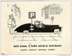 Werbung - Original-Werbung/ Anzeige 1968 - TESA FILM / CARTOON - ca. 120 x 80 mm